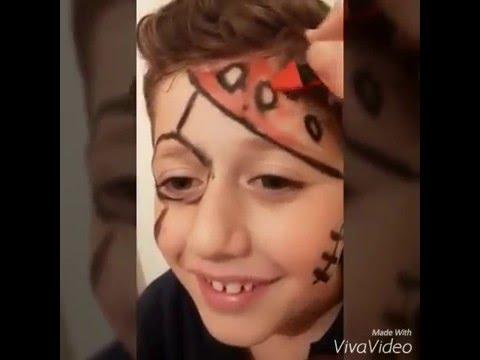 طريقة الرسم على الوجه للاطفال Youtube