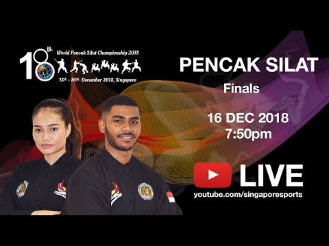 (A1) Komang Harik 🇮🇩 vs 🇹🇭 Khufaron Arsae | 18th World Pencak Silat Championship 2018
