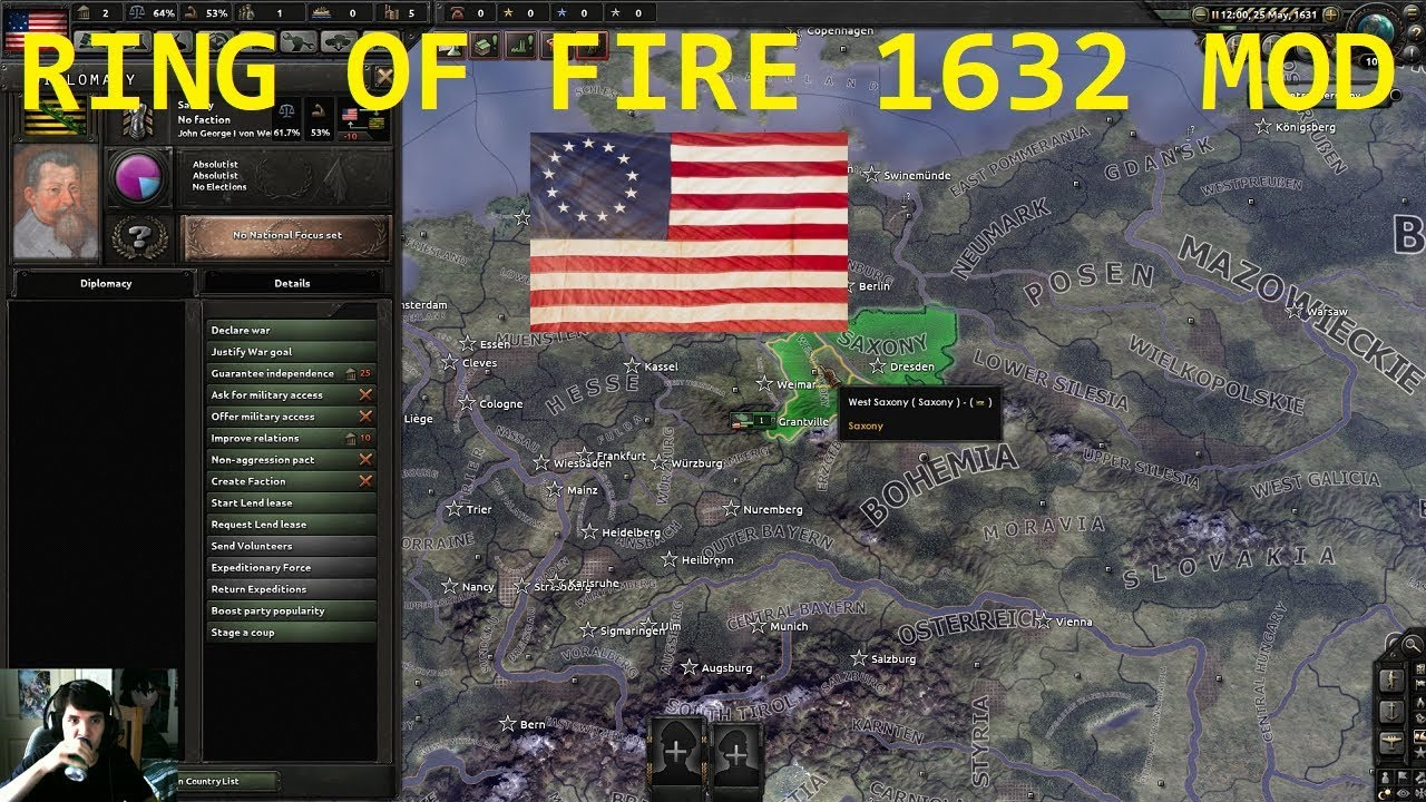 Hearts of Iron 4 - Ring of Fire Mod