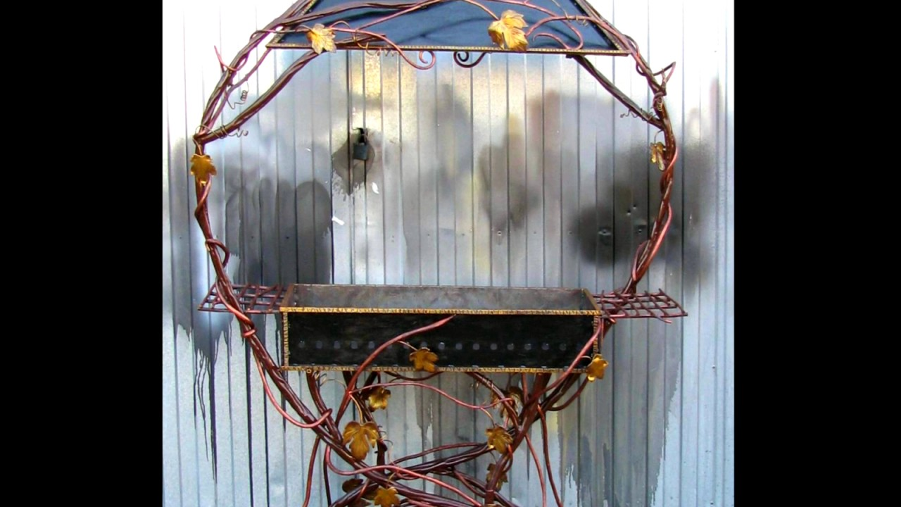 Кованый садовый мангал с крышей на дачу купить в ...