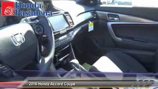 2016 Honda Accord Coupe Pasadena Cerritos Los Angeles Alhambra Pasadena, SoCal, Orange County 160105