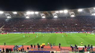 ROMA - BARCELLONA Ultimi minuti di gioco e lo stadio esplode