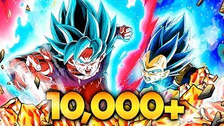 THE FIRST 10,000 STONE SUMMONS IN HISTORY! LR BLUE GOKU & BLUE VEGETA SUMMONS! (DBZ: Dokkan Battle)