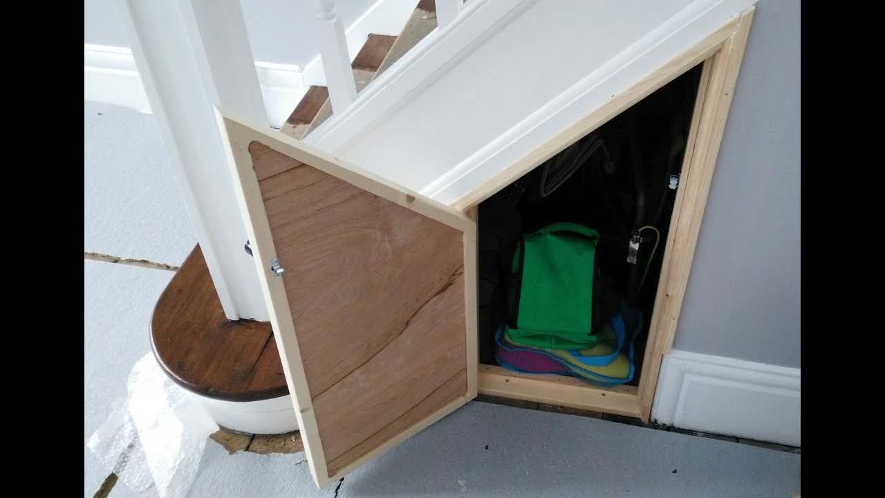 building an under stairs cupboard door youtube