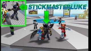 Roblox | Meeting Stickmasterluke in his game!