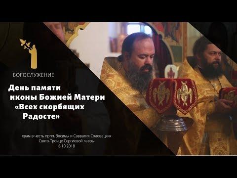 Праздник иконы «Всех скорбящих Радосте» / Icon of The Theotokos «The Joy of All Who Sorrow»