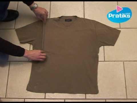 C mo doblar una camisa in 5 segundos youtube - Como doblar una camisa ...