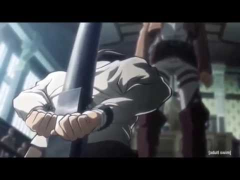 Attack On Titan - Levi Beating The Shit Out Of Eren [English][HD]
