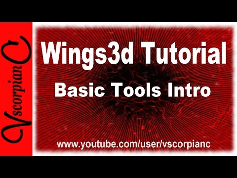 Wings3D Tutorial - Beginners, Intro to Basic Commands & Tools by VscorpianC