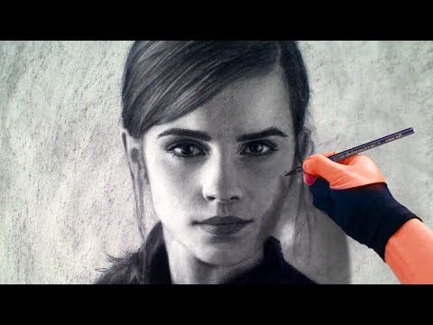 Drawing emma watson beauty and the beast art drawing video
