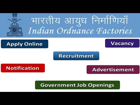 Ordnance Factories Board Recruitment Apply Online Notifications Careers Vacancy