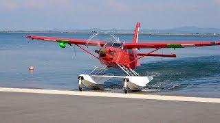 2019せとうちSEAPLANES 水陸両用機 中海から上陸して道路を横断 (74便)