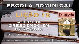 Efésios 4.13-16 - Lição 12 - A Igreja crescendo em harmonia