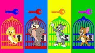 ساعد توم وجيري علي الهروب من  السجن تعليم الالوان مع شخصيات كرتون القط والفار Tom and Jerry