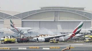 تعطل حركة الملاحة في مطار دبي بعد حادث تحطم طائرة الاماراتية
