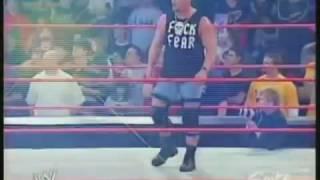 Goldberg vs Steve Austin vs triple H  fight WWE history
