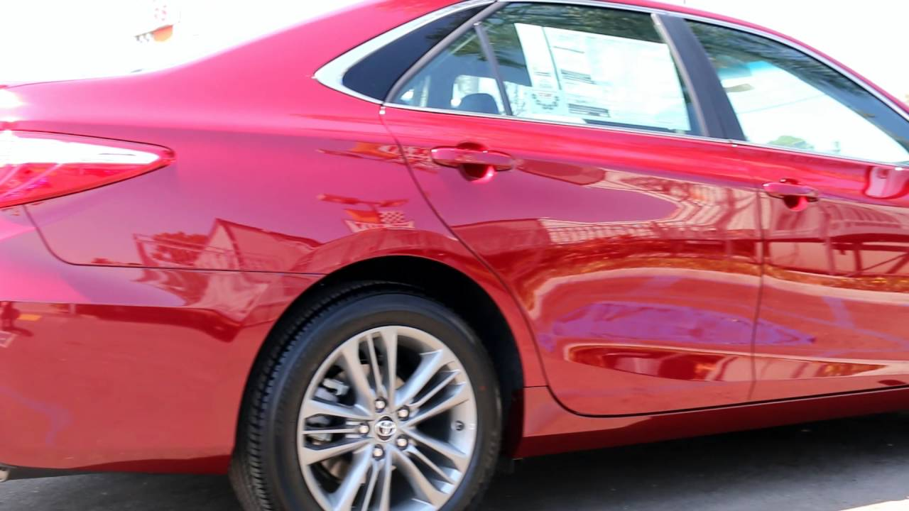 2017 Toyota Camry SE Red Ruby Flare Pearl Walkaround Demo Brochure ...