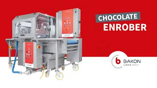 Enrobingmachine with chocolate - Bakon Food Equipment(Fantastic machine for the enrobing and/or finishing of a variety of products based on a waterfall type system. With the Bakon Enrobing and finishing machine you ..., 2014-07-31T12:40:57.000Z)