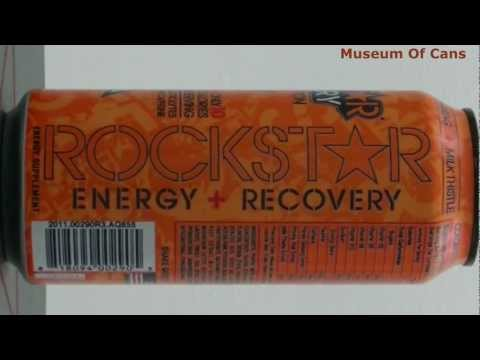 Rockstar Recovery Energy + Hydration Orange 2011 _ Museum Of Cans