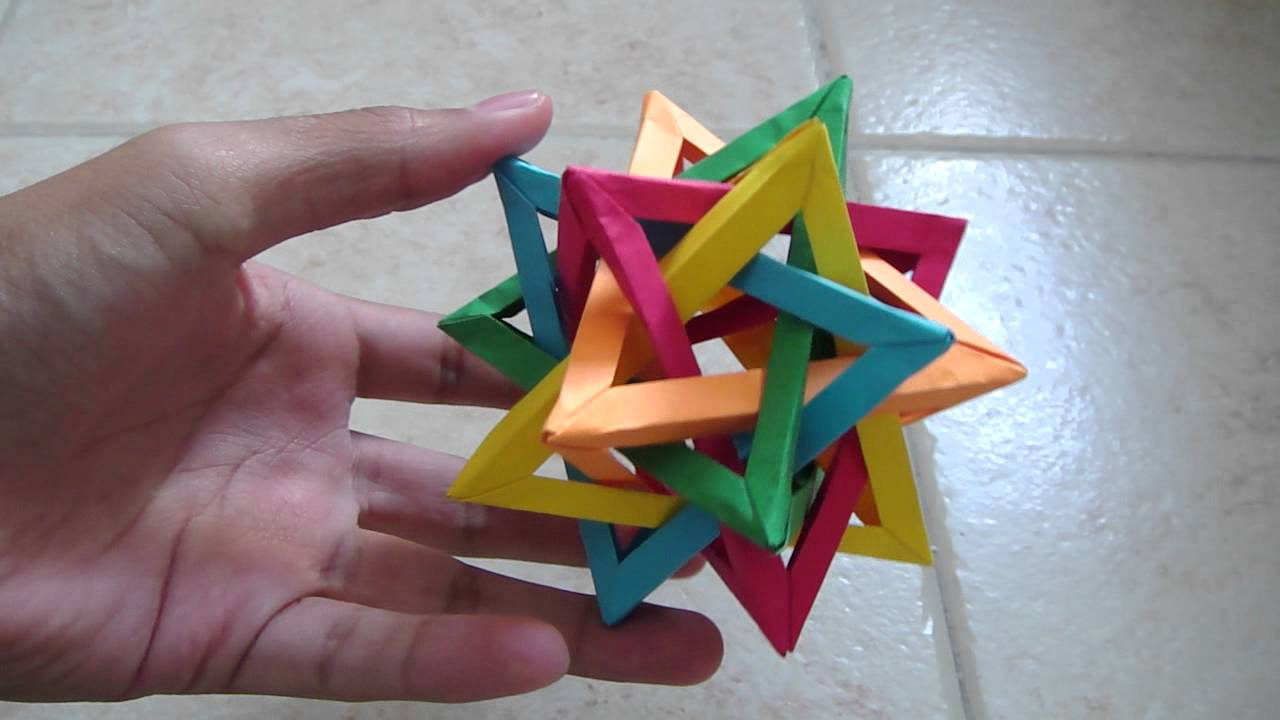 origami 5 intersecting tetrahedra