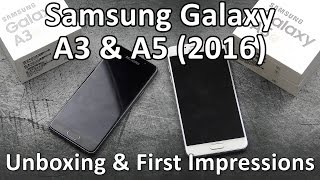 samsung galaxy a3 a5 2016   unboxing first impressions