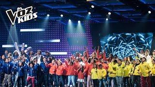 Los equipos cantan La Maldita Primavera - Batallas | La Voz Kids Colombia 2018