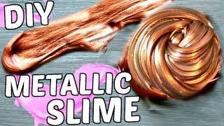 DIY METALLIC SLIME TUTORIAL! How To Make Slime Without Borax + SLIME ASMR!