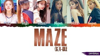 (G)I-DLE ((여자)아이들) - 'MAZE'  Lyrics (Color Coded Han-Rom)