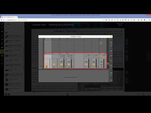 Recording Connection - Ableton Live - Getting to Know Your eBook