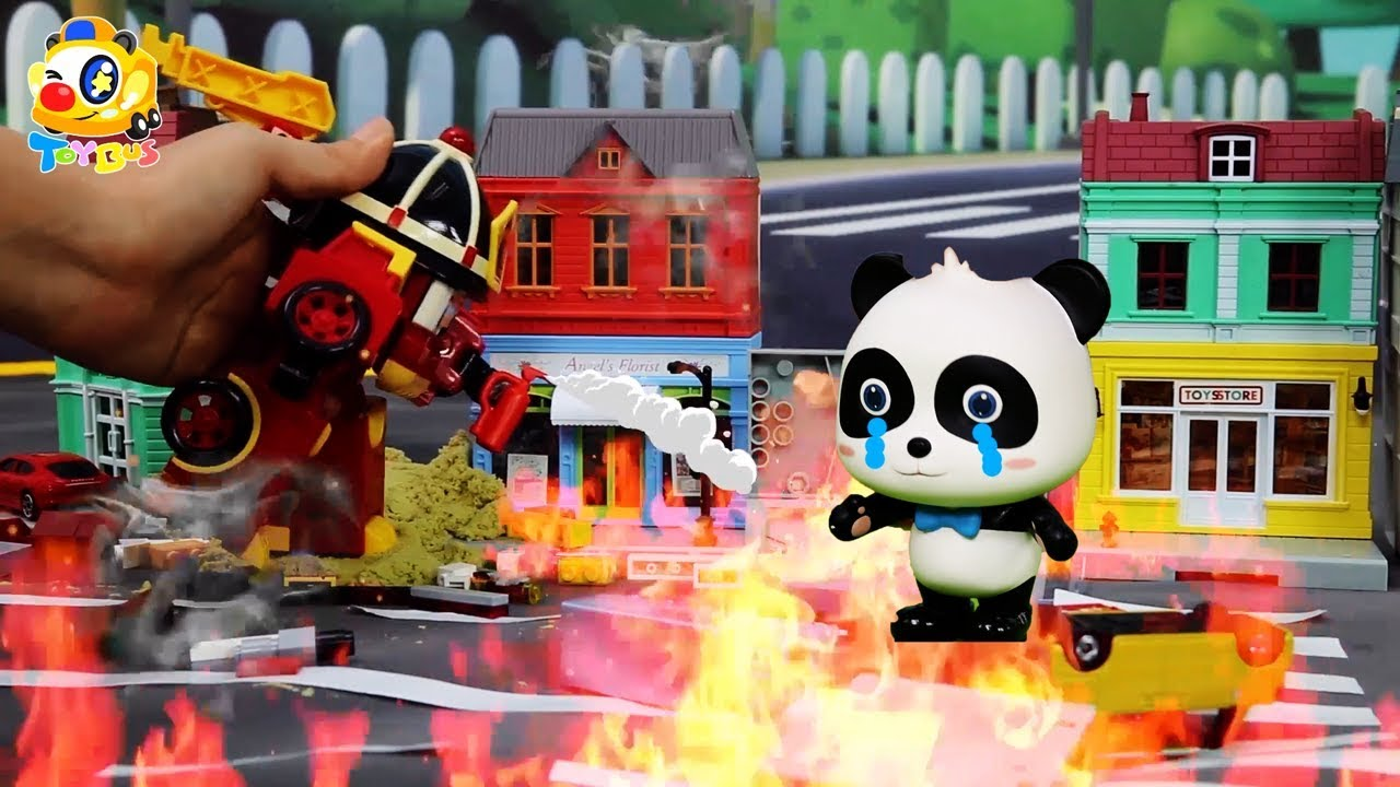 Super Panda Rescue Team Cooking Pretend Play Play Doh