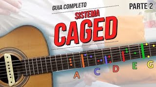 how to practice using CAGED system on guitar