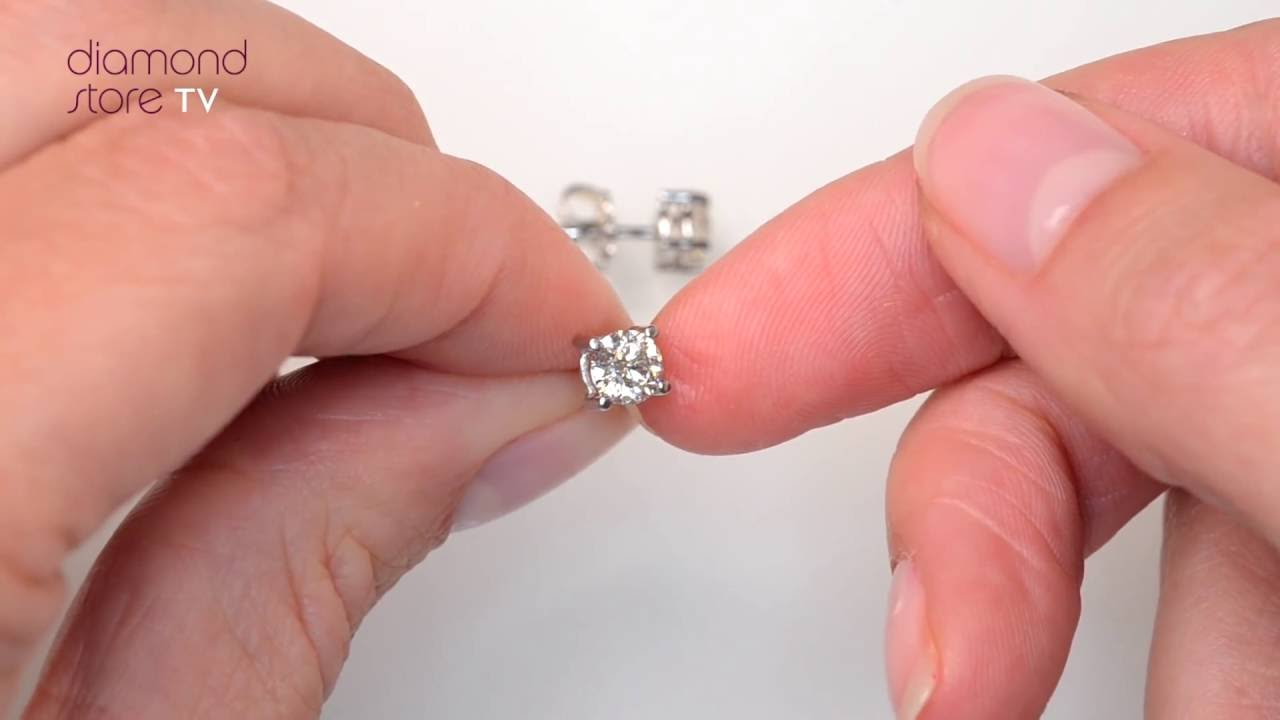 youtube diamond platinum stud earrings watch