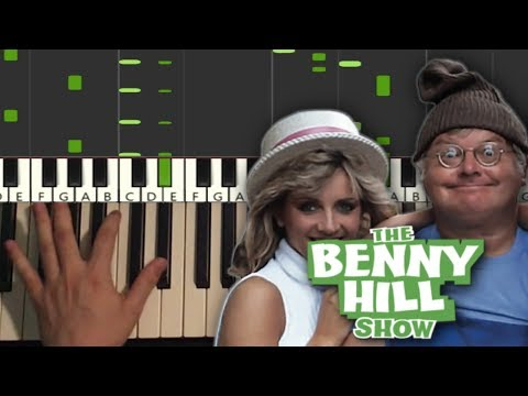Benny Hill - Theme Song (Piano Tutorial Lesson)
