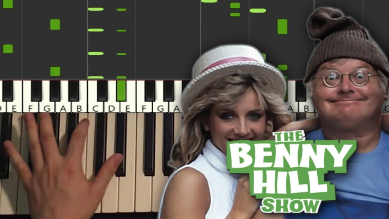 Benny Hill Theme Song Piano Tutorial Lesson