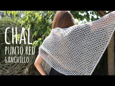 Tutorial Chal Muy F 225 Cil Punto Calado Ganchillo Crochet
