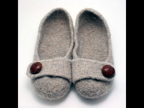 French Press Felted Slippers - YouTube