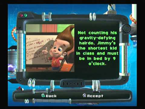 Jimmy Neutron Jet Fusion Walkthrough PS2 Part 15: Gallery, Biocards, and Outtakes (The Final Part)