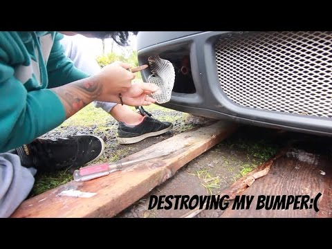 HOW TO INSTALL A FRONT LICENSE PLATE RELOCATION TOW MOUNT ON A VW MK4 GOLF