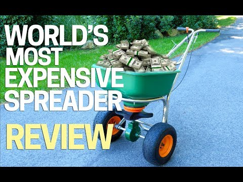 Best Lawn Broadcast Spreader - For Fertilizer - Grass Seed - Beats Lesco