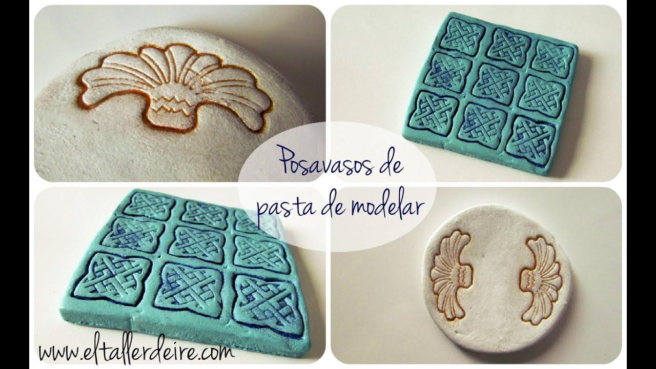 C mo hacer posavasos con pasta de modelar youtube for Ceramica para modelar