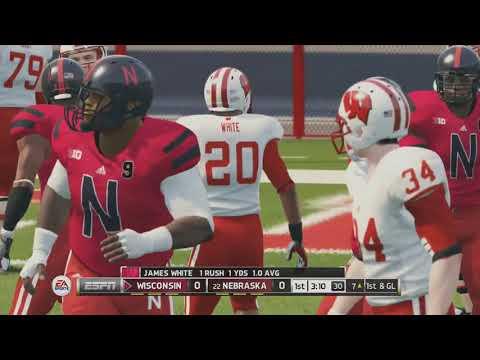 Nebraska vs. Wisconsin | NCAA Football 14 Online Ranked Match - Playing Against a Subcsriber