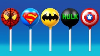 Super Hero's Cake Pop Finger Family Song