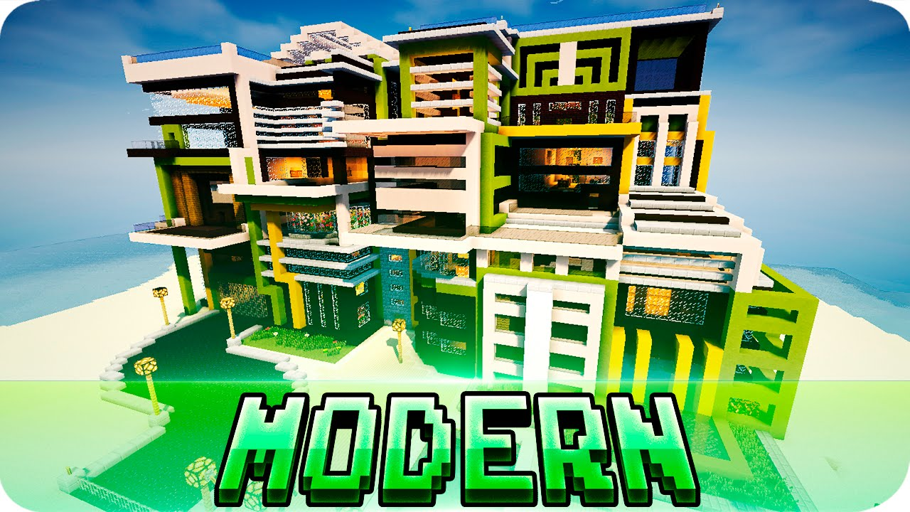 Minecraft - Modern House Style - Map w/ Download - JerenVids - Youube - ^