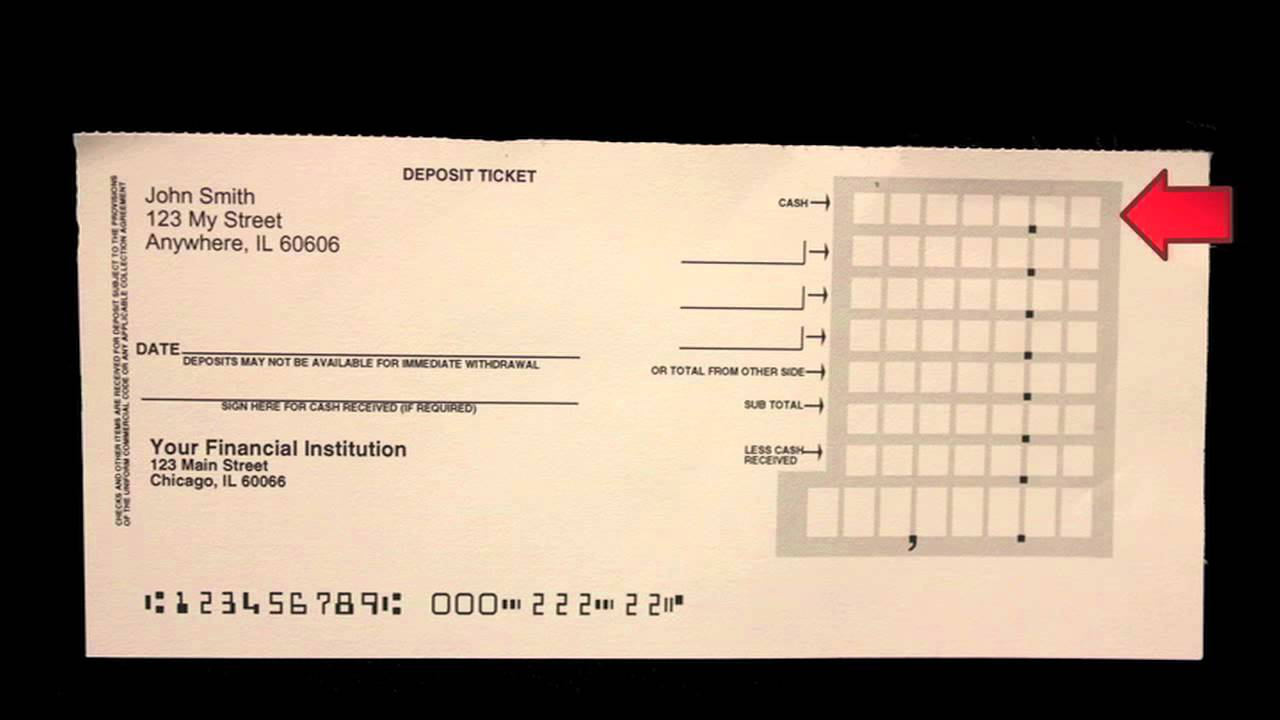 How to Fill Out a Deposit Slip  Carousel Checks  YouTube
