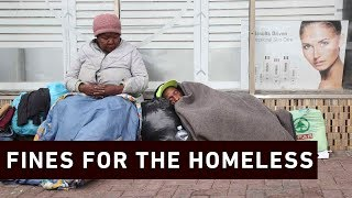 Some homeless people across the City are facing stiff penalties after some Capetonians raised complaints about beggers near their properties.   Click here to subscribe to Eyewitness news:http://bit.ly/EWNSubscribe  Like and follow us on:http://bit.ly/ EWNFacebookANDhttps://twitter.com/ewnupdates  Keep up to date with all your local and international news:www.ewn.co.za  Produced by: Bertram Malgas
