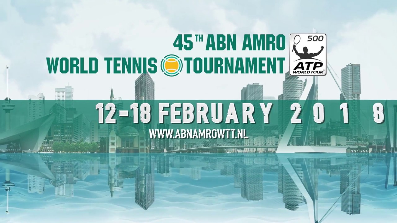 Roger Federer, Grigor Dimitrov, and David Goffin Headline 2018 @abnamrowtt