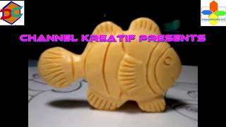 DIY Cara Membuat Ukiran Patung Sabun Ikan Badut Swakriya Soap Carving Clown Fish Easy
