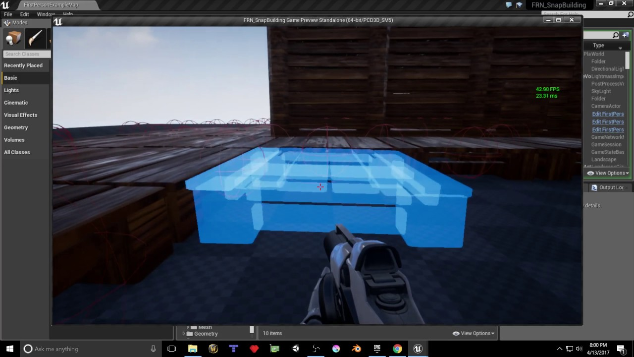 UE4 2017 04 13 Snap Point Building