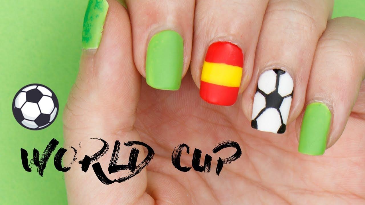 FIFA WORLD CUP NAIL ART | #YouTubeCheerOn 💅 Football/Soccer & Country Flag  Nails 🇪🇸🇵🇹 - FIFA WORLD CUP NAIL ART #YouTubeCheerOn 💅 Football/Soccer