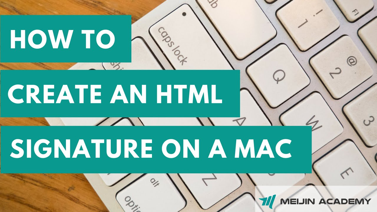 create html signature